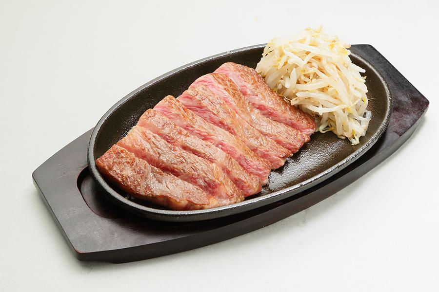 国産の黒毛和牛150gのステーキです。
